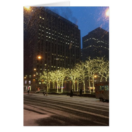 New York City Holiday Lights Christmas Card