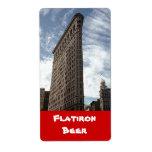 New York City Homebrewing Flatiron Beer Label
