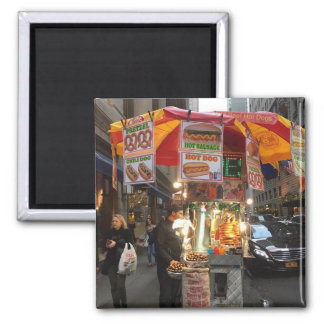New York City Hot Dog Stand Photo Magnet