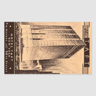 New York City Hotel Taft Rectangular Sticker