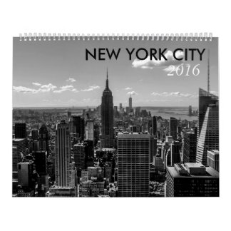 New York City Iconic Black and White Photos Calendar