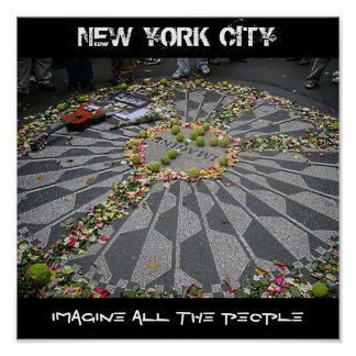 NEW YORK CITY, iMAGiNE ALL THE PEOPLE Poster