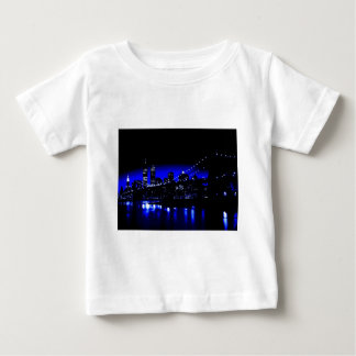 New York City in Blue T Shirt