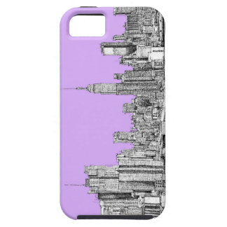 New York city in lilac pink iPhone 5 Cases