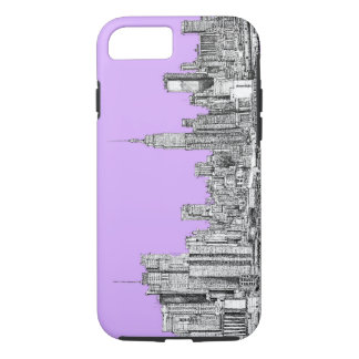 New York city in lilac pink iPhone 8/7 Case