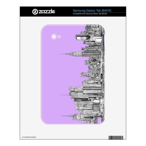 New York city in lilac pink Samsung Galaxy Tab Skin