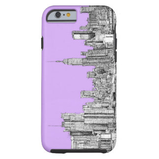 New York city in lilac pink Tough iPhone 6 Case