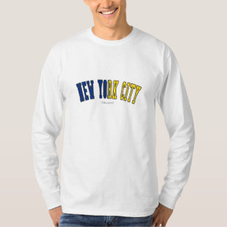 New York City in New York state flag colors T-Shirt