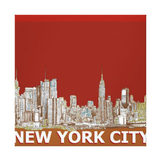 New York city in reds and browns Canvas Prints