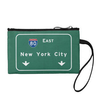 New York City Interstate Highway Freeway Road Sign Change Purse