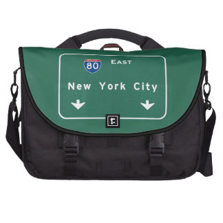 New York City Interstate Highway Freeway Road Sign Bag For Laptop