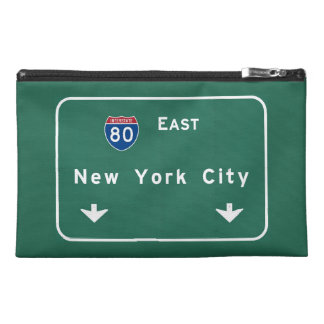 New York City Interstate Highway Freeway Road Sign Travel Accessories Bags