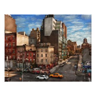 New York City - la esquina de la 10ma avenida y W  Tarjetón