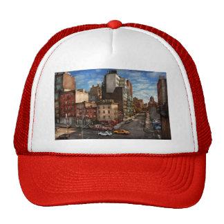 New York City - la esquina de la 10ma avenida y W Gorras De Camionero