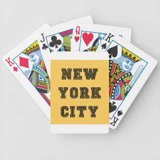 New York City Lettering Bicycle Playing Cards