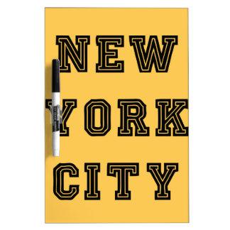 New York City Lettering Dry Erase Board