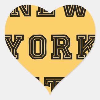 New York City Lettering Heart Sticker