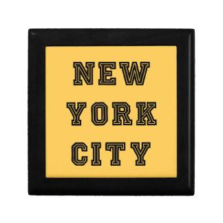New York City Lettering Joyero Cuadrado Pequeño