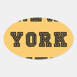 New York City Lettering Oval Sticker