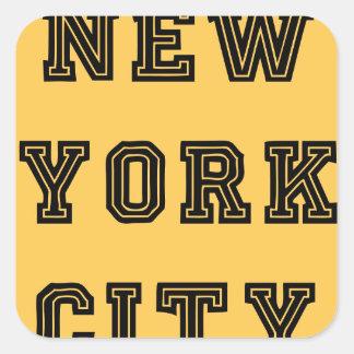 New York City Lettering Pegatina Cuadrada