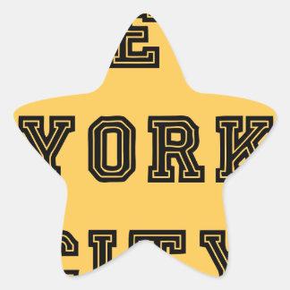 New York City Lettering Pegatina En Forma De Estrella