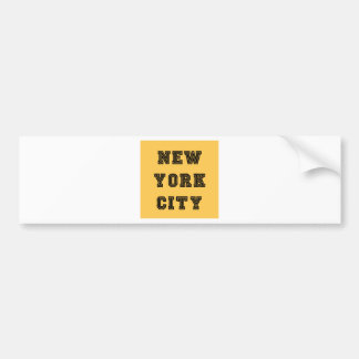 New York City Lettering Pegatina Para Auto