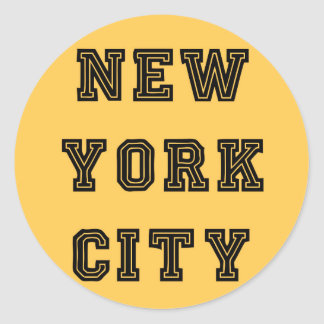 New York City Lettering Pegatina Redonda