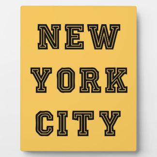 New York City Lettering Placas De Madera