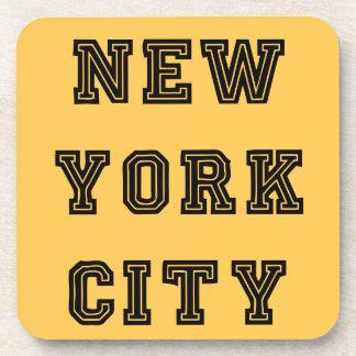 New York City Lettering Posavasos De Bebida