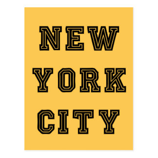 New York City Lettering Postcard