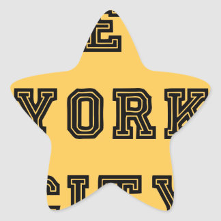New York City Lettering Star Sticker