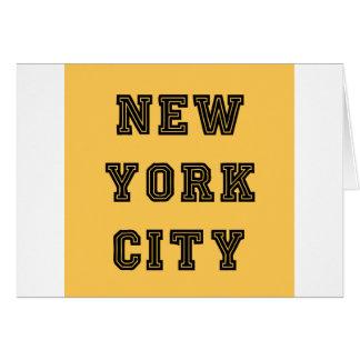 New York City Lettering Tarjeta De Felicitación