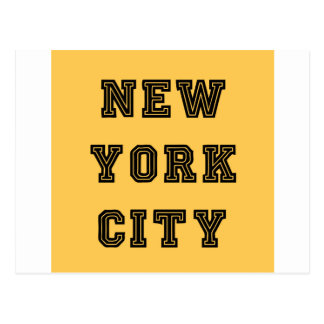 New York City Lettering Tarjeta Postal