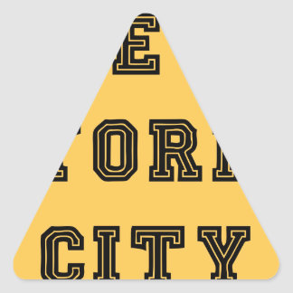 New York City Lettering Triangle Sticker