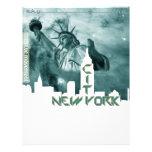 New York City Liberty Skyline Custom Letterhead