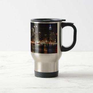 New York City Lights 15 Oz Stainless Steel Travel Mug