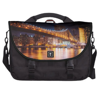 New York City Lights - Night Cityscape Bag For Laptop
