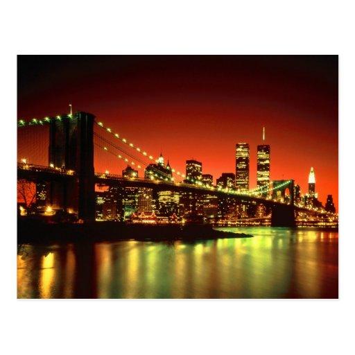 New York City  Lights Postcard