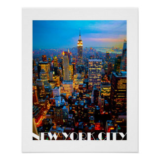 New York City Lights Poster