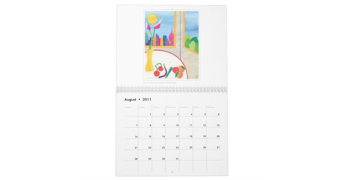 Art Calendar Nyc : New york city liz wang fine art calendar zazzle