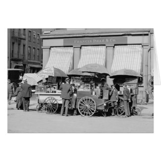 New York City Lunch Carts, 1906 Card