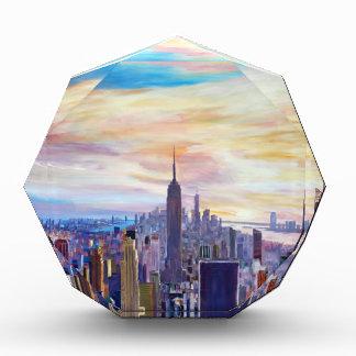 New York City Manhatta Skyline Acrylic Award