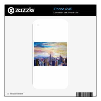 New York City Manhatta Skyline Skins For The iPhone 4S