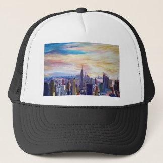 New York City Manhatta Skyline Trucker Hat
