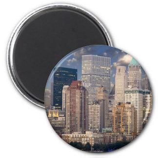 New York City Manhattan 2 Inch Round Magnet