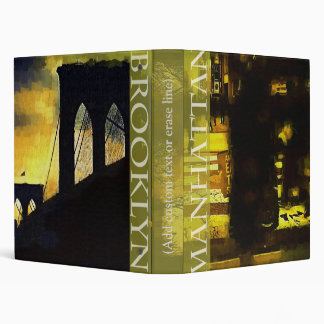 New York City Manhattan and Brooklyn Binder