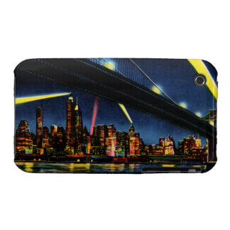 New York City Manhattan at Night iPhone 3 Case-Mate Case