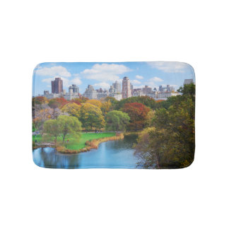 New York City Manhattan Central Park Panorama Bathroom Mat