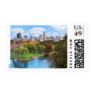 New York City Manhattan Central Park Panorama Postage