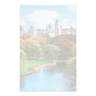 New York City Manhattan Central Park Panorama Stationery